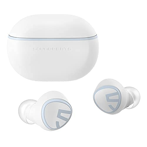 Bluetooth Kopfhörer, So&PEATS Mini Kabellose Ohrhörer Bluetooth 5.2 In-Ear Stereo-Ohrhörer mit Elevoc Vocplus AI Noise Cancelling für Anrufe, Total 28 St&en, Twin/Mono-Modus(Weiß)