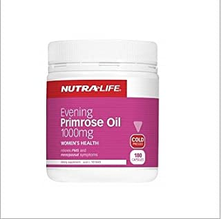 Nutra-life Evening Primrose Oil 1000mg 180 Caps for Women's Health Hormonal Balance During PMS and Menopause Cold Pressed ...