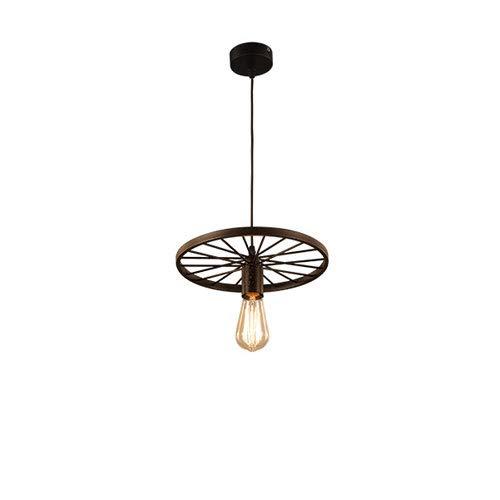 Colgante de la rueda de la lámpara pasada de moda de techos metálicos de techo Lámpara antigua retro pendientes de la lámpara de la lámpara pendiente del ático Droplight Cafe retro iluminación Ruedas