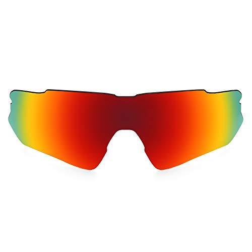 Revant Lentes de Repuesto Compatibles con Gafas de Sol Oakley Radar EV Path, Polarizados, Elite Rojo Fuego MirrorShield