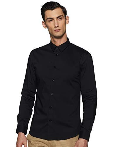 Celio MASANTAL1, Chemise Slim coton stretch, Homme, Noir (Noir), X-Large