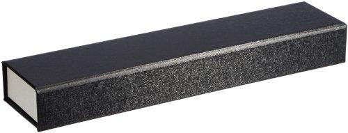 MTS Uhr/Armband Schachtel Schmuck Etui schwarz/weiß Geschenk -Universal Verpackung Magnetverschuß 6 x 26 cm aus Karton ( Umweltfreundlich ) 07388