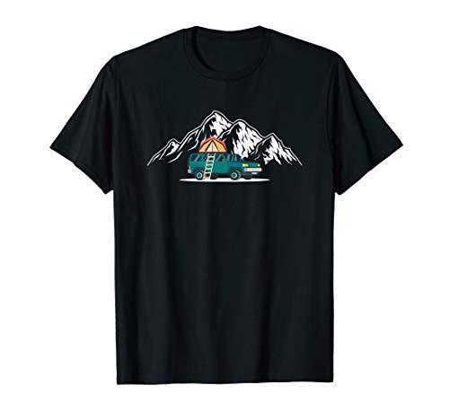 Minicamper mit Dachzelt - Camping Auto mit Autodachzelt T-Shirt