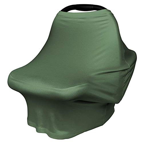 Nursing Cover Breastfeeding Scarf - Baby Car Seat Covers, Infant Stroller Cover, Carseat Canopy for Girls and Boys by YOOFOSS (Dark Green)