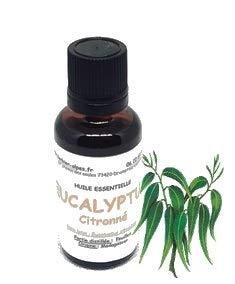 Huile essentielle d'eucalyptus citronné (30 ml) .\