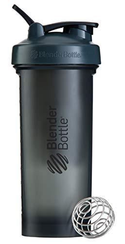 BlenderBottlePro45Extra Large Shaker Bottle, Grey/Black, 45-Ounce