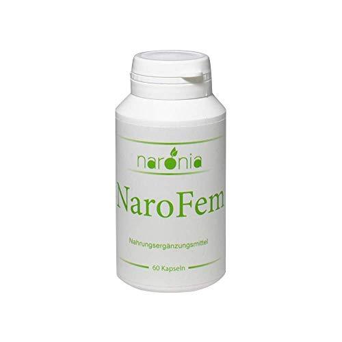 NaroFem - Mönchspfeffer, Traubensilberkerze, Hopfenblüten, Leinsamen, Aronia, Piperin, Taurin - 60 Kapseln - 100% Vegan
