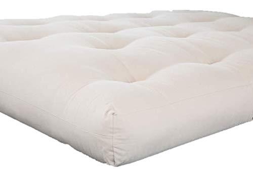 Why Choose White Lotus Home Green Cotton & Wool Dreamton Futon Without Chemical Fire Retardant (XL T...