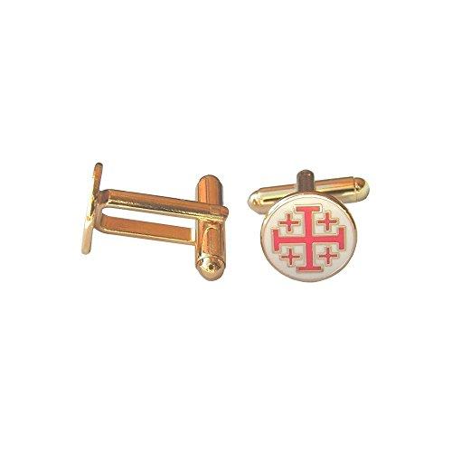 Boutons de manchettes maçonniques – Croix de St-Jean de Jérusalem
