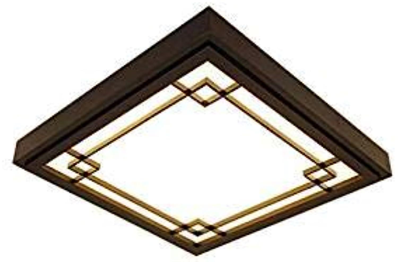 XUEGM-Light Round Wood Lamp Deckenleuchte LED Dimmable Wood Lamp Schlafzimmer Wohnzimmer Deckenleuchte mit Fernbedienung Vintage Lamp Deckenleuchte