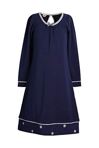 La-V Mädchen Nachthemd Navy/Größe 170/176