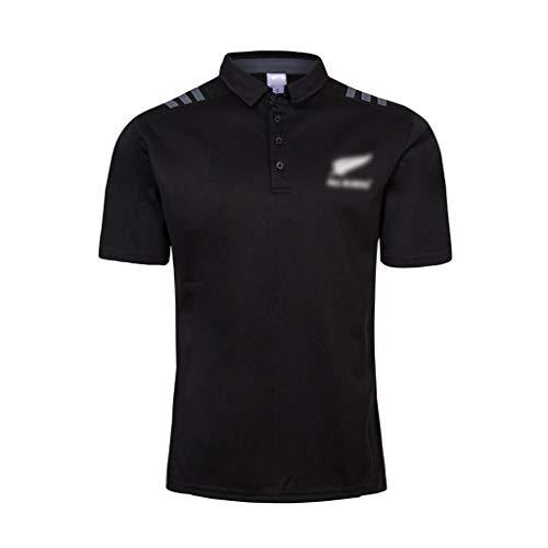 GXHLLYZY Rugby-Trikot für Neuseeland 2018-2019, bequemes T-Shirt Sommer schwarz Kurzarm (Farbe: D, Größe: XXXL)