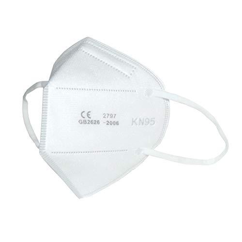 Maschera facciale S3+ KN95/FFP2 senza valvola (confezione da 10 pezzi). Certificazione CE + FDA