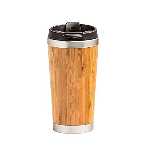 RMXMY Tasse simple et créative en bambou, doublure de sable, violet en acier inoxydable