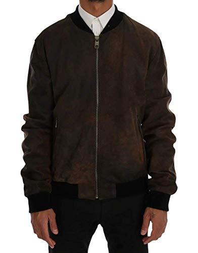 Dolce & Gabbana 7349X Giubbotto Uomo Bomber Leather Jacket Man [52]