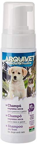 Arquivet Champú para Perros de Espuma Seca - Shampoo en seco para Perros - Higiene Canina - Limpieza Perros - Shampoo para Perros - Composición Natural 200 ml