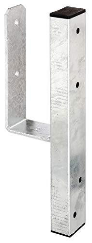GAH-Alberts 214432 U-Pfostenträger | für L-Randsteine für Vierkantholzpfosten | feuerverzinkt | lichte Breite 90 mm | Länge 410 mm