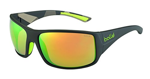 Bollé Sonnenbrille Tigersnake, Matte Smoke/Green/Brown Emerald Oleo, 12132