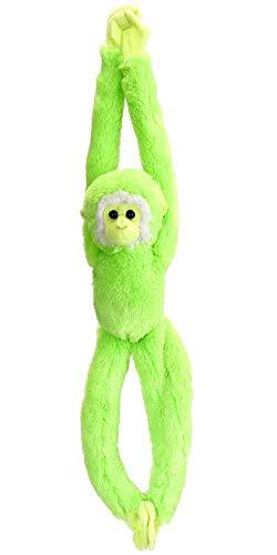 Wild Republic 17580 - Hanging Monkey Vibe, Plüsch-AFFE, 51 cm, grün