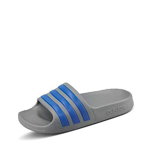 adidas Adilette Shower, Chaussures de Plage & Piscine homme - Gris/Bleu - 37 EU