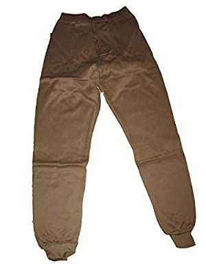Genuine Issue Thermal Bottom, Polypro, Brown, Size Medium, Brown, Size Medium