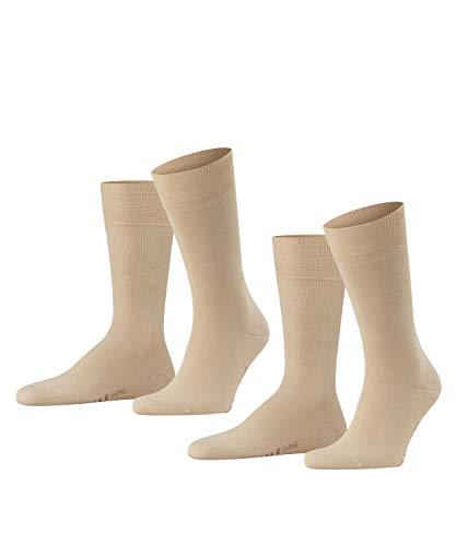 FALKE Herren Swing 2-Pack M SO Socken, Blickdicht, Beige (Sand 4320), 43-46 (2er Pack)