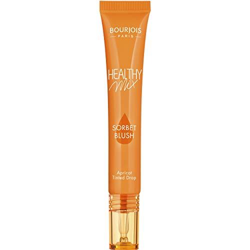Bourjois - Blush liquide Healthy Mix Sorbet Blush - Formule gel - Pour joues et lèvres - 02 Abricot - 20ml