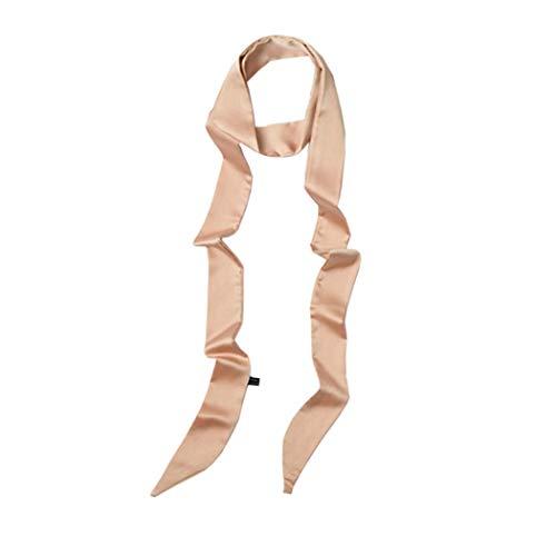 Ribbon Scarf for Women Handbag Wrap Handle Satin Belt Sash Necktie Neck Scarf PSSD01 (Champagne)