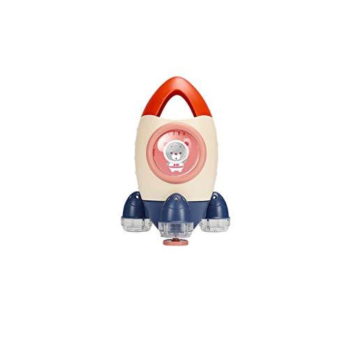 TCBH Agua de baño para niños, spray para bebés, cohete, ducha giratoria creativa, ducha de baño (azul)