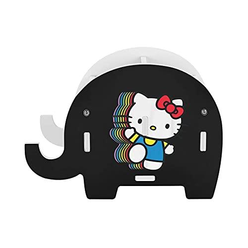 Hello Kitty - Soporte para lápiz de elefante de madera, soporte para teléfono celular/soporte de escritorio para decoración de escritorio multifuncional regalo de graduación de cumpleaños