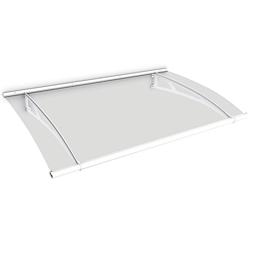 Schulte Pultvordach LT-Line, 150 x 95 cm, 4 mm Acrylglas Klar, Wandhalterung Stahl pulverbeschichtet (rostfrei), Vordach Haustür Überdachung, V1015-10-04