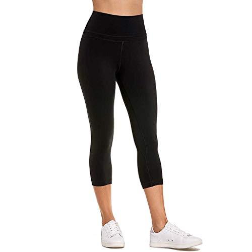 catmoew Yogahosen Damen Frauen einfarbig Tasche Hüften Sieben Punkte Yogahosen Sporthosen Leggings Frauen trainieren Taschen-Gamaschen-Eignungs-Sport, der Yoga-athletische Hosen Laufen lässt