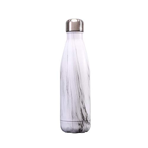 LUOXIYOUXUAN Botella de agua deportiva Botella de coque para deportes al aire libre Vacío Acero inoxidable Aislamiento Copa Multicolor Opcional a prueba de fugas (500 ml, abedul)