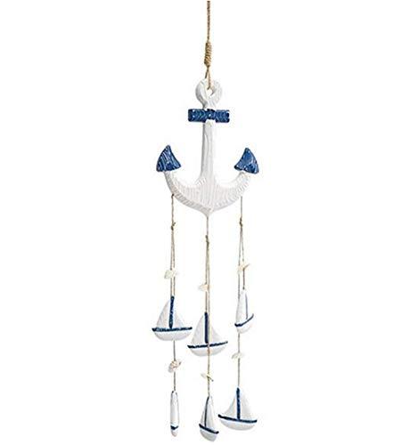 Mediterrane Anker Wind Chime hanger huis ornamenten geschenken houten ambachten schelpen conch gordijn