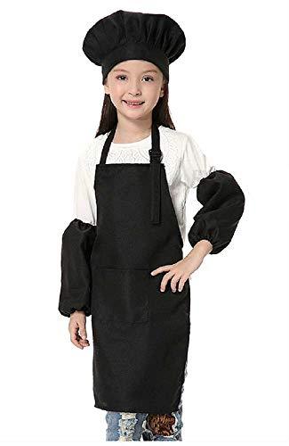 Chef-kokkostuum - uniform - chef-kok - vermomming - carnaval - halloween - kinderen - schort - moffen - jongen - meisje - origineel idee voor verjaardagscadeau voor kerst - zwart - one size