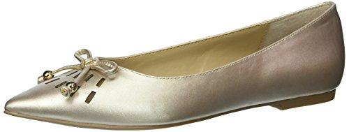 ADRIENNE VITTADINI Footwear Women's Fitzi Ballet Flat, Gold, 5.5 M US