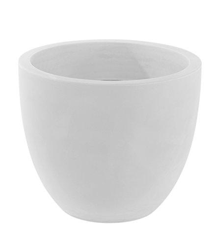 Vondom 40750 Maceta Cuenco, diámetro de 50 x 43 cm, Simple, Color Blanco, 40x47x47 cm