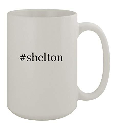 #shelton - 15oz Ceramic White Coffee Mug, White