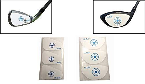 LL-Golf ® 150er Set Golf Impact Tapes/Label nach Wahl für Driver/Holz ODER Eisen/Wedge/Golfschläger Schlagfläche Impact Aufkleber/Etiketten RH (Eisen/Wedge)