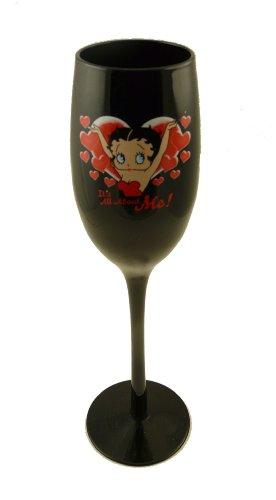 Betty Boop noir Flûte verre à vin – All About Me
