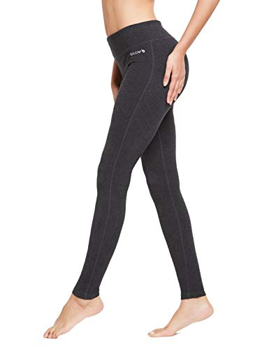 BALEAF Women's Ankle Legging Athletic Yoga Hiking Workout Running Pants Inner Pocket Non See-Through Charcoal Size XXL