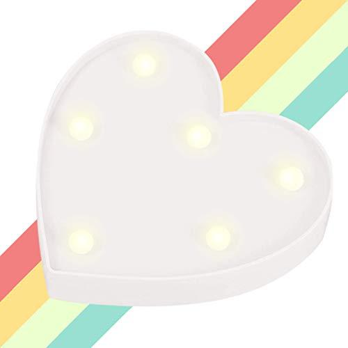 XIYUNTE Herz Shaped Festzelt Lichter LED Nachtlichter, batteriebetriebene Herz leuchtet Kinderzimmer Dekor Tischlampen Dekorationen für Kinder Schlafzimmer, Geburtstagsfeier, Weihnachten