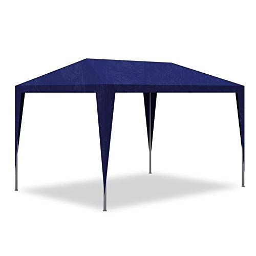 lyrlody- Pabellón de Jardín, 3 x 3 x 2,5 m Carpas para Exteriores Plegable Carpa Cenador Protección UV Impermeables Azul, para Espectáculo Boda Fiestas Barbacoa Festival