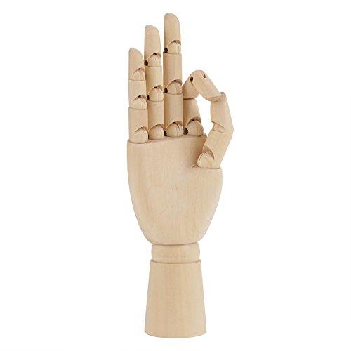 Modelo de Mano de Madera movible articulado articulado Dedos Flexibles Mano maniquí para Dibujar Dibujo Escritorio de Oficina en casa niños niños Juguetes Juguetes Regalo (10 Zoll rechte Hand)