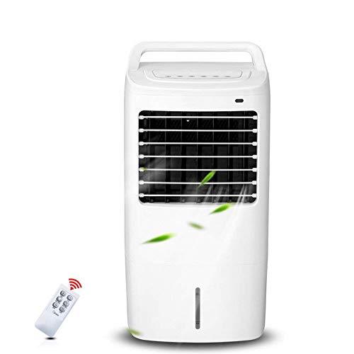 Ventilador de Aire Acondicionado de un Solo frío con Control Remoto 4 Ruedas giratorias Enfriadores evaporativos con deshumidificador y Ventilador