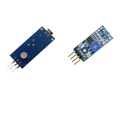 F Fityle Módulo de Sensor de Pista + Fotosensible de Resistencia Dependiente Del Sensor de Luz LDR