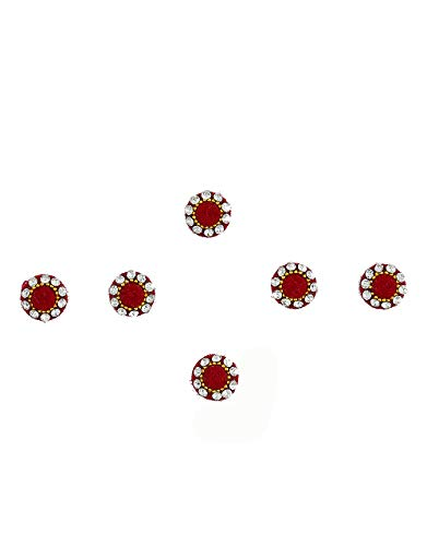 Richie Rich Maroon Colour Round Shape Bindis For Ladies Wedding...