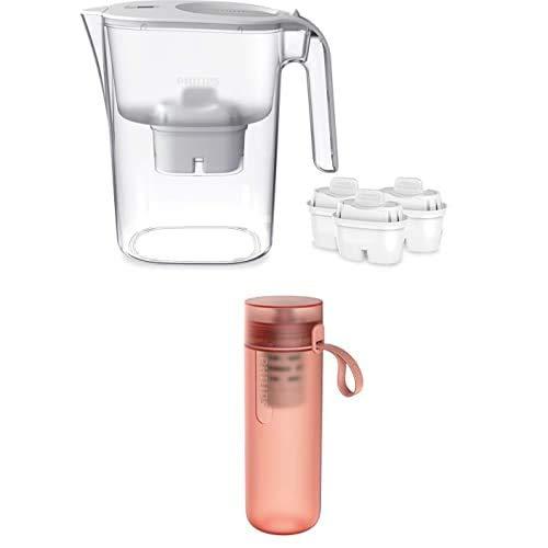 Phillips - Jarra filtro de agua AWP2936, Incluye 3 cartuchos Micro X Clean + Botella Filtro de Agua Go Zero Active AWP2712RDR, Modelo Fitness