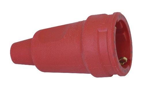 Kopp 180912005 Schutzkontakt-Gummikupplung mit Knickschutztülle, rot