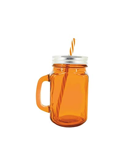 Set met 48 oranjekleurige glazen en steel – kruik voor details bruiloft en communie